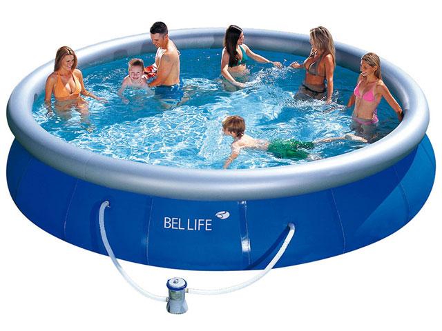 piscina redonda 11000 litros bomba 220v filtro bel fix